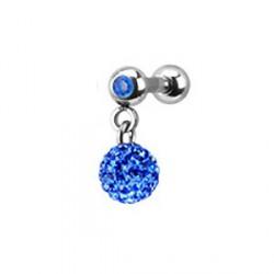 Piercing oreille tragus boule bleu Poter TRA015