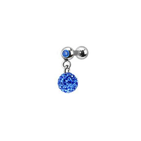 Piercing oreille tragus boule bleu Poter Piercing oreille8,49€