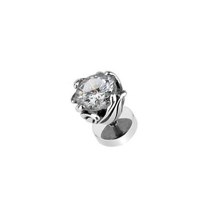 Faux piercing oreille avec une fleur en zirconium blanc Zyc Faux piercing6,85€