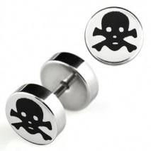 Faux piercing plug tête de mort noir Zatu Faux piercing4,49€