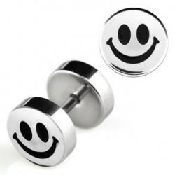 Faux piercing oreille plug smiley noir Zatu Faux piercing4,49€