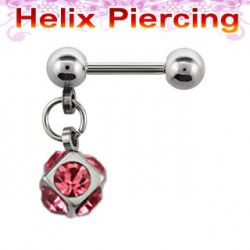 Piercing cartilage hélix rose Ahel HEL003