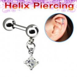 Piercing cartilage hélix carré blanc Kuj Piercing oreille5,90€