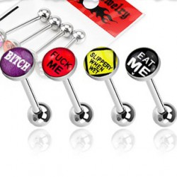 Piercing langue lot de 4 motif logos Tifaz Piercing langue7,60 €