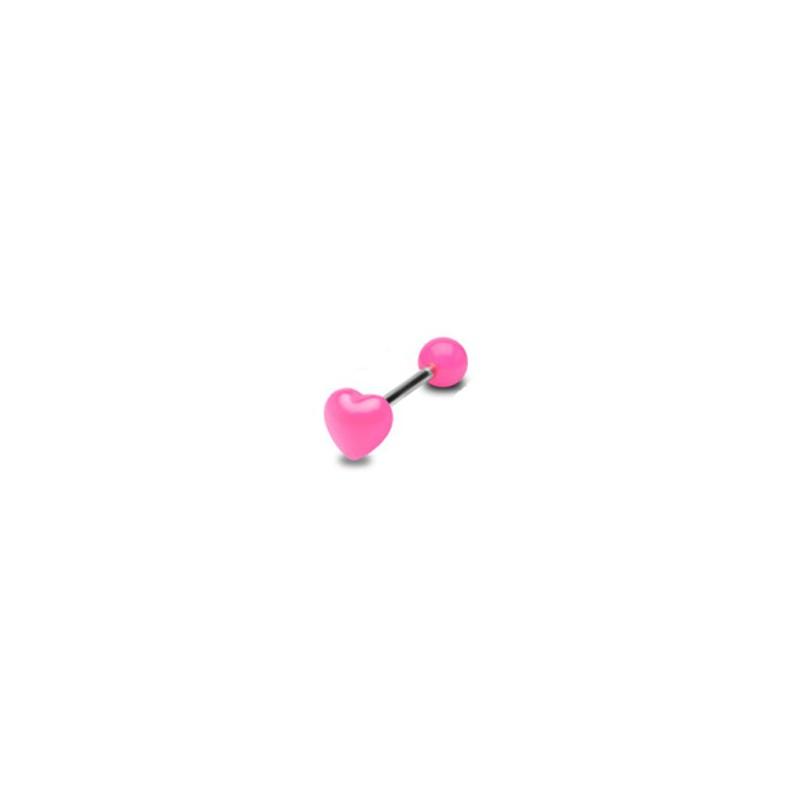 Piercing langue cœur rose Xaga Piercing langue2,60€