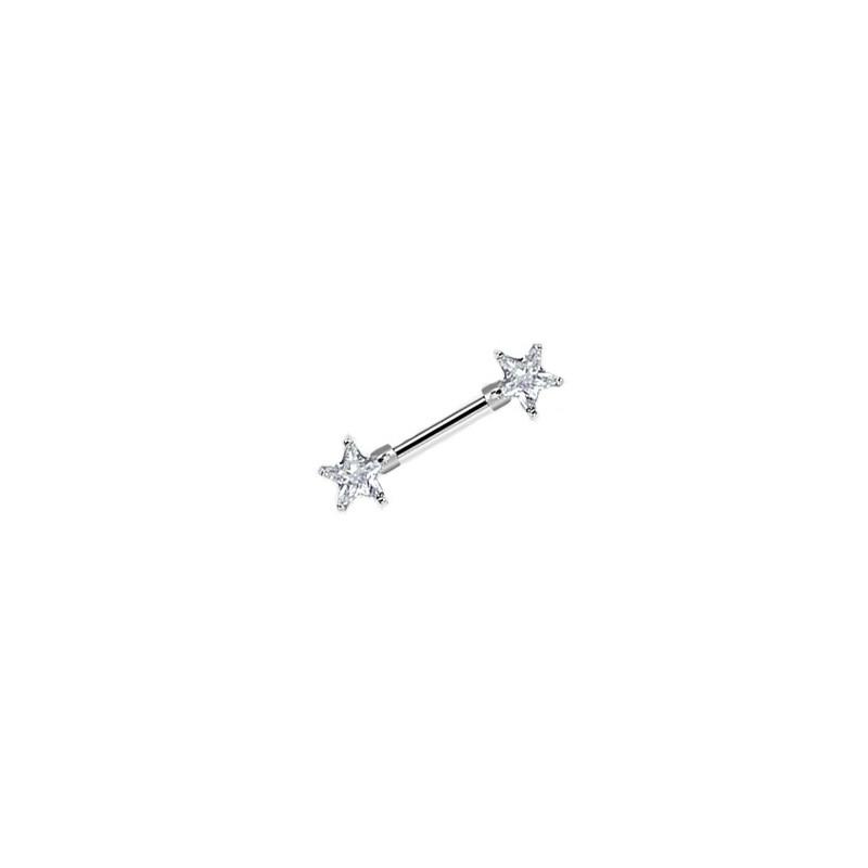 Piercing téton avec étoiles blanche Tiwal Piercing téton7,70€