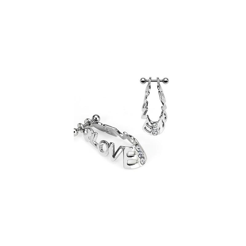 Piercing cartilage hélix bouclier love Arel Piercing oreille5,60€