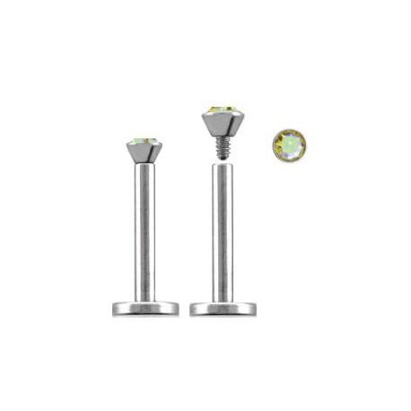 Piercing labret lèvre 11mm aurore boréale LAB091