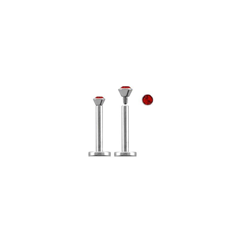 Piercing labret lèvre acier 6mm rouge Luty Piercing labret3,60€