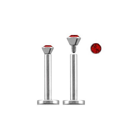 Piercing labret lèvre acier 10mm rouge Lory Piercing labret3,60€