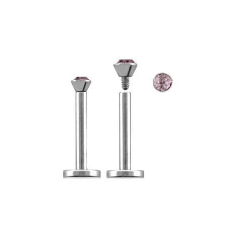 Piercing labret lèvre 12mm améthyste clair Xy Piercing labret3,60€