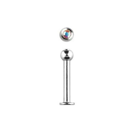 Piercing labret lèvre 12mm aurore boréale LAB095