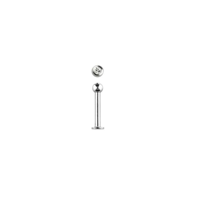 Piercing labret lèvre acier 8mm blanc Kity Piercing labret3,49€