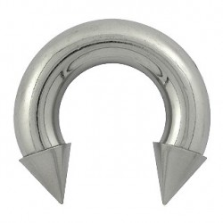 Piercing fer à cheval 16 x 8mm et pointes acier