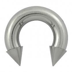 Piercing fer à cheval 16 x 8mm et pointes acier Piercing oreille12,50€