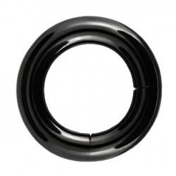 Piercing anneau 14 x 5mm noir à segment Dyt ANN058