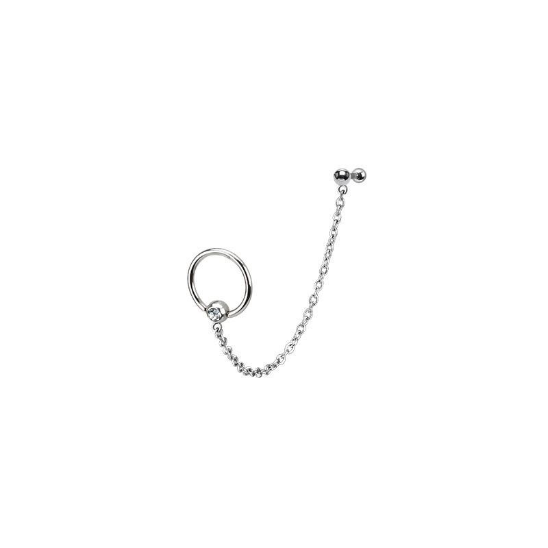 Piercing oreille hélix anneau et chaînette Lio Piercing oreille5,49€