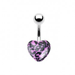 Piercing nombril cœur léopard violet Kex Piercing nombril3,90 €