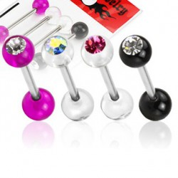 Lot piercings langue boules et cristal Lay Piercing langue7,40 €