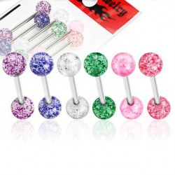 Lot piercings langue boules scintillantes LAN119
