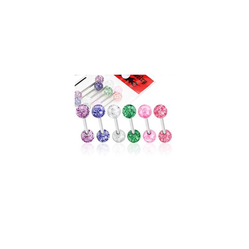 Lot piercings langue boules scintillantes Piercing langue7,40€