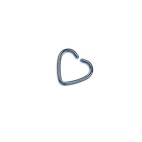 Faux piercing anneau cœur bleu acier Baty Faux piercing3,90€