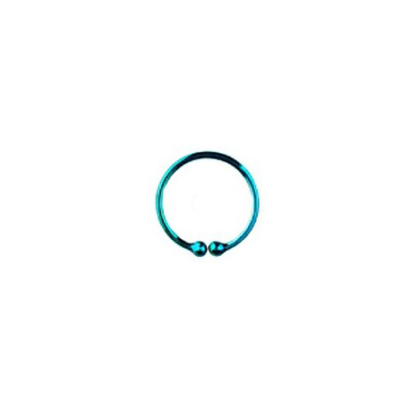 Faux piercing anneau bleu aqua 12mm Fury Faux piercing3,60€