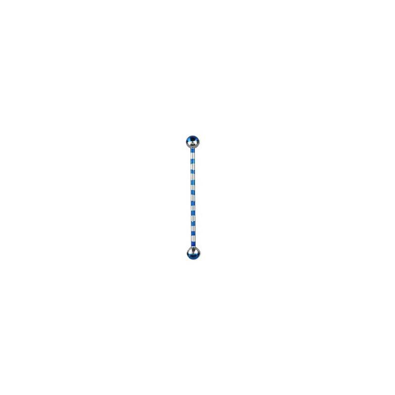 Piercing industriel bleu zébré 38mm Rax Piercing oreille5,60€