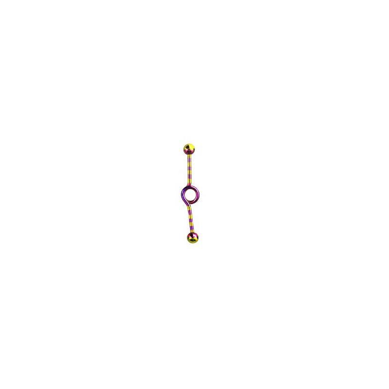 Piercing industriel doré violet loop zébré 35mm Basyx Piercing oreille6,60€
