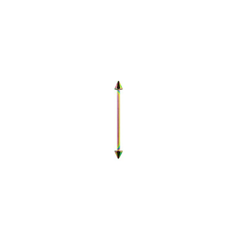 Piercing industriel 32mm arc en ciel avec pointes de 5mm Bafaz Piercing oreille4,80€