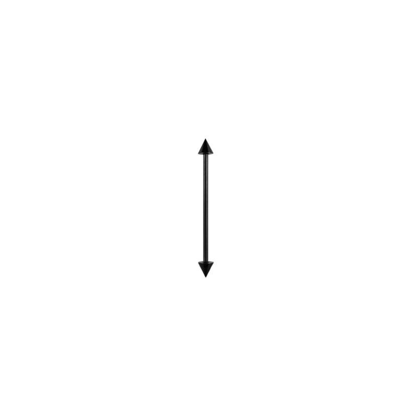Piercing industriel pointes noire 32mm Lyxo Piercing oreille4,80€