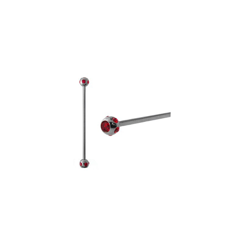 Piercing industriel cristal rouge 38mm Racyx Piercing oreille6,49€