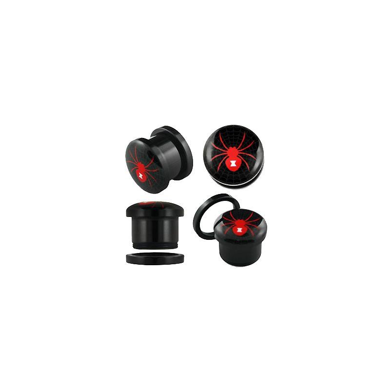 Piercing plug rouge araignée 4mm Nux Piercing oreille3,49€