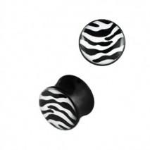Piercing plug zébré blanc noir 8mm Vyu Piercing oreille4,49€
