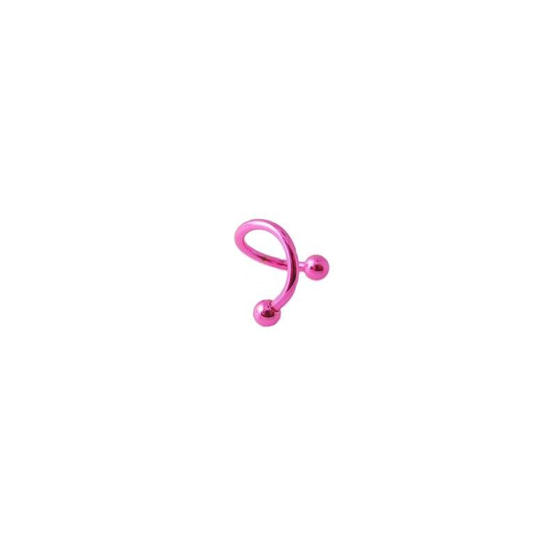 Piercing spirale 8mm rose avec boules 3mm Sux Piercing oreille3,99€