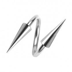 Piercing spirale 10mm avec pointes 4 x 8mm Kaz SPI012