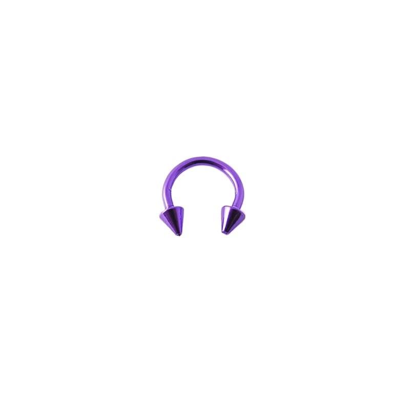 Piercing fer à cheval 8mm violet et pointes Gyt Piercing oreille3,49€