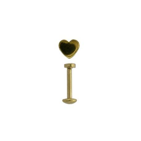 Piercing labret lévre coeur doré Gaot Piercing labret4,49€