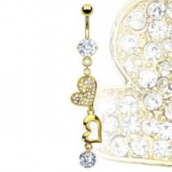 Piercing nombril avec des cœurs dorés Jugit Piercing nombril11,75€
