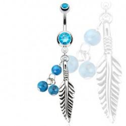 Piercing nombril avec un attrape rêve bleu Slu Piercing nombril6,75€