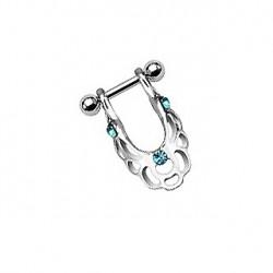 Piercing hélix bouclier bleu Uryl Piercing oreille5,49€