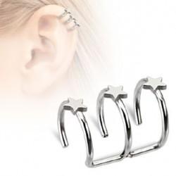 Faux piercing triple anneaux étoile Dyan Faux piercing5,49€