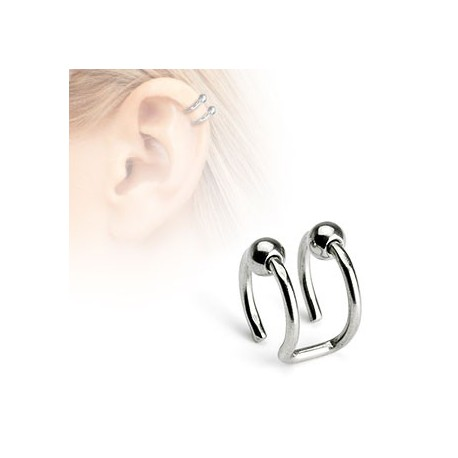 Faux piercing anneaux et boules acier Az FAU103