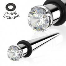 Piercing écarteur 5mm et zirconium Gys Piercing oreille5,90€