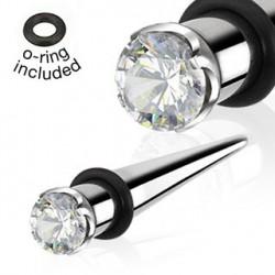 Piercing écarteur 5mm et zirconium Gys COR056