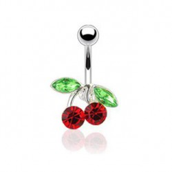 Piercing nombril cerise rouge Futryd