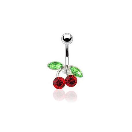Piercing nombril cerise rouge Futryd NOM098