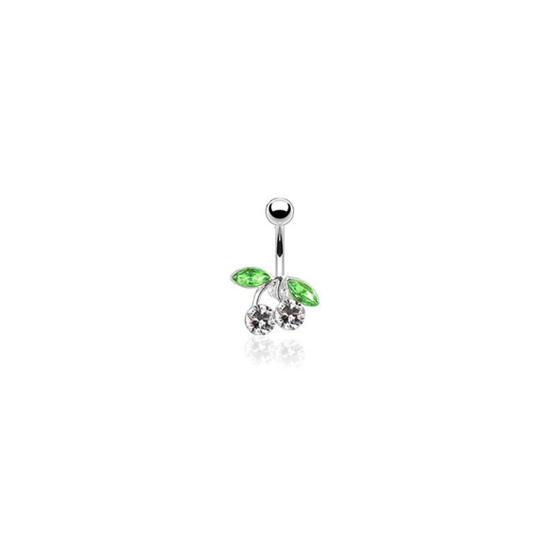 Piercing nombril avec une cerise blanche Sutryd Piercing nombril6,49€