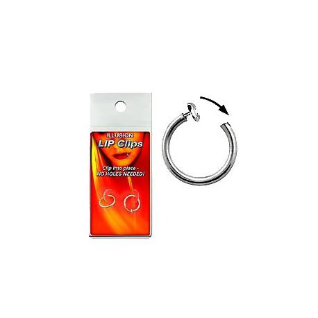 Faux piercing anneaux 10mm acier à clip Piat FAU105
