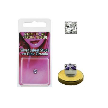 ordre meilleur authentique divers styles Faux piercing aimanté labret blanc Peal - 6,60 €